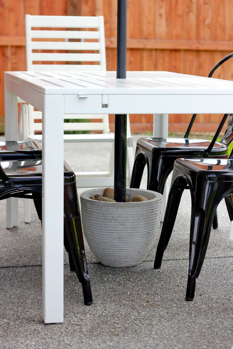 طراحی نشیمن در فضای باز - سایه بان چتری
